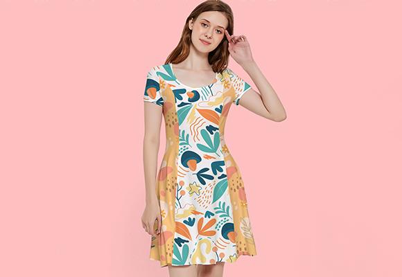 Custom Inside Out Cap Sleeve Dress