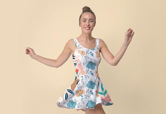 Custom Inside Out Casual Dress