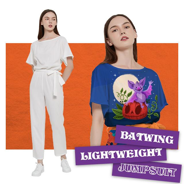Custom Batwing Lightweight Jumpsuit