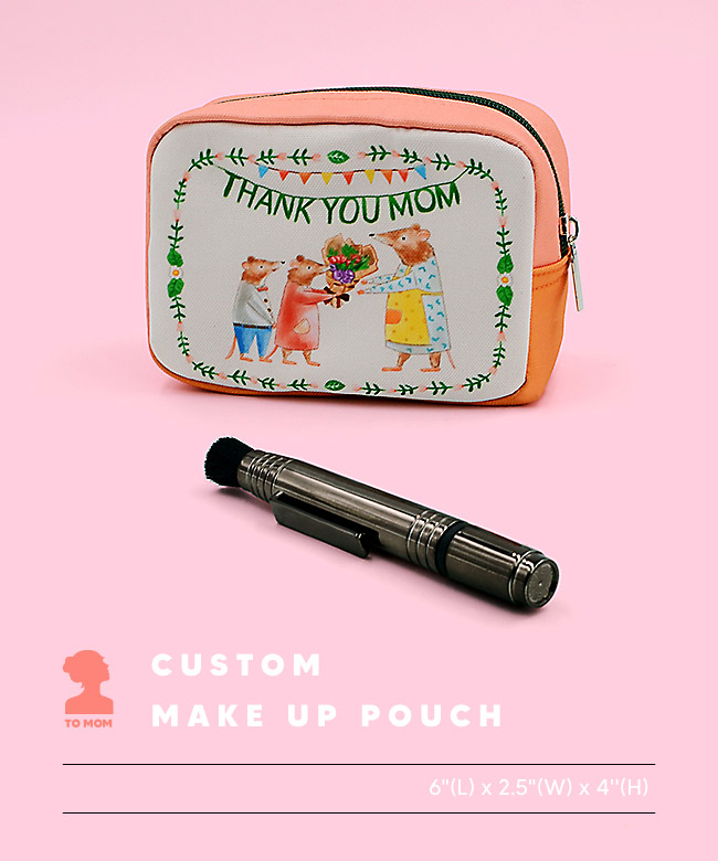 Custom make up pouch