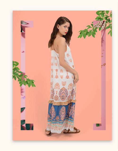 custom cami maxi ruffle chiffon dress
